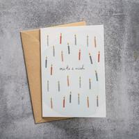 A Beautiful Story Ansichtkaart - Candles Watercolour