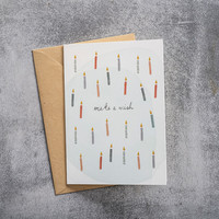 A Beautiful Story Greeting Card - Candles Watercolour