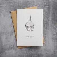 A Beautiful Story Karte - Cupcake black/white