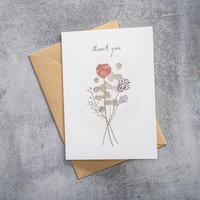 A Beautiful Story Karte - Blumen Aquarell