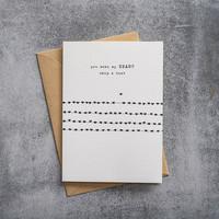 A Beautiful Story Ansichtkaart - Heartbeats black/white