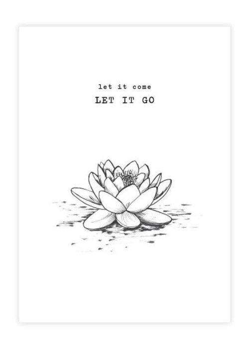 A Beautiful Story A Beautiful Story Ansichtkaart - Lotus black/white
