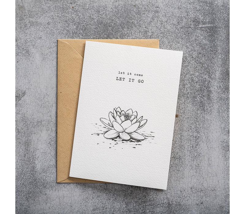 A Beautiful Story Greeting Card - Lotus black/white