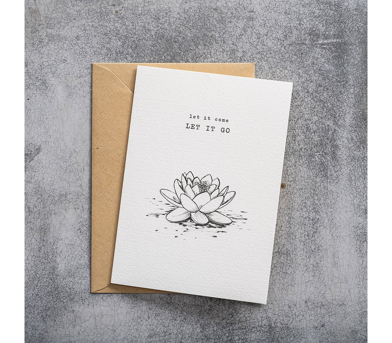 A Beautiful Story Karte - Lotus black/white