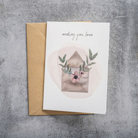 A Beautiful Story Ansichtkaart - Love Watercolour