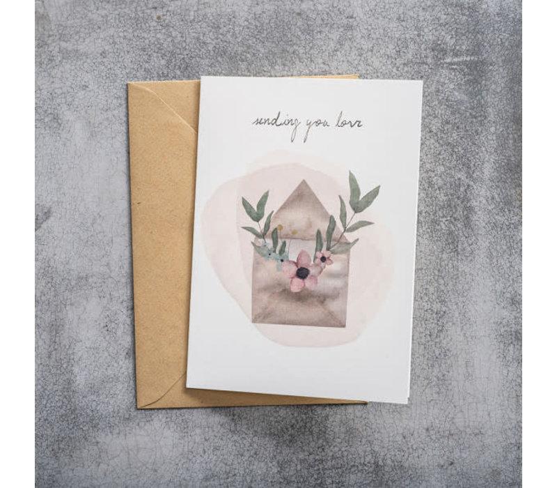 A Beautiful Story Greeting Card - Love Watercolour