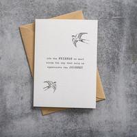 A Beautiful Story Karte - Schwalbe black/white