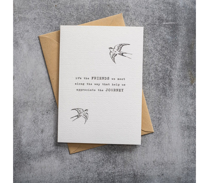 A Beautiful Story Greeting Card - Swallow black/white