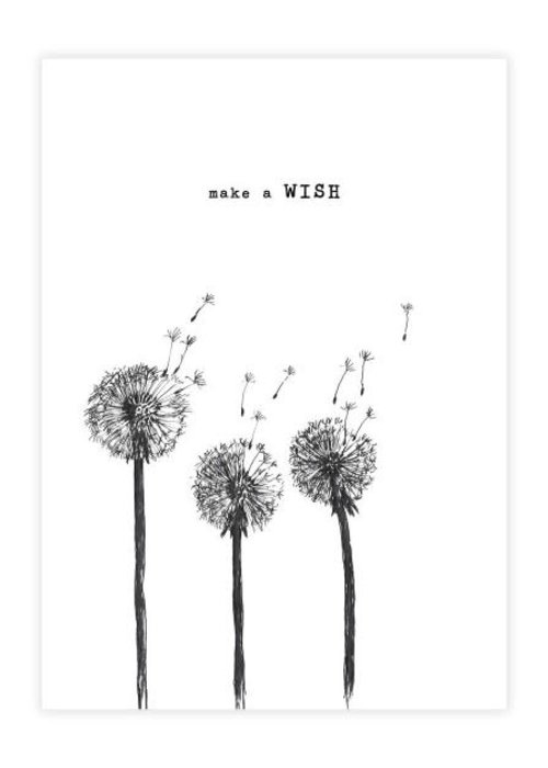 A Beautiful Story A Beautiful Story Karte - Wish black/white