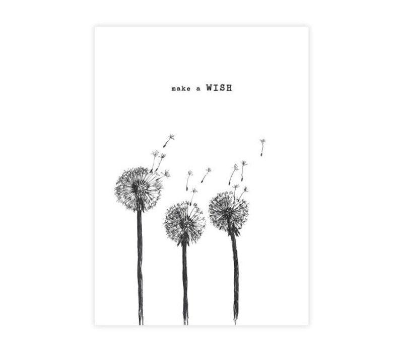 A Beautiful Story Karte - Wish black/white