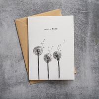 A Beautiful Story Ansichtkaart - Wish black/white