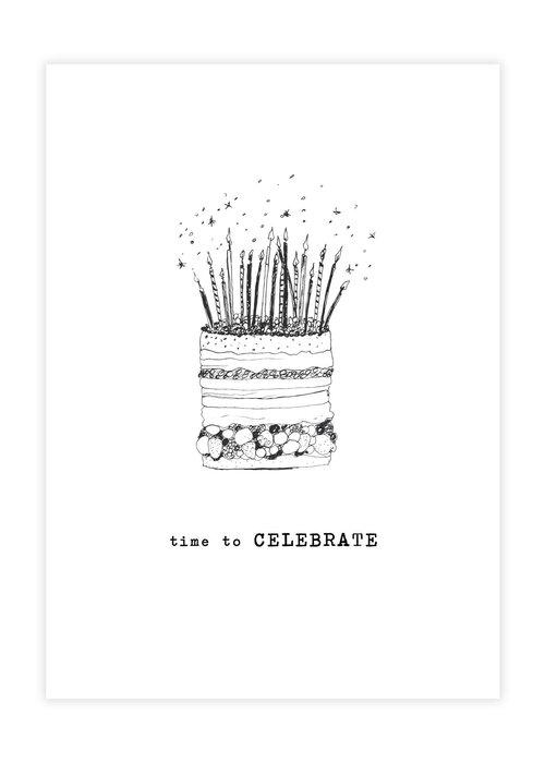 A Beautiful Story A Beautiful Story Greeting Card - Cake black/white