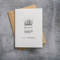 A Beautiful Story Greeting Card - Cake black/white