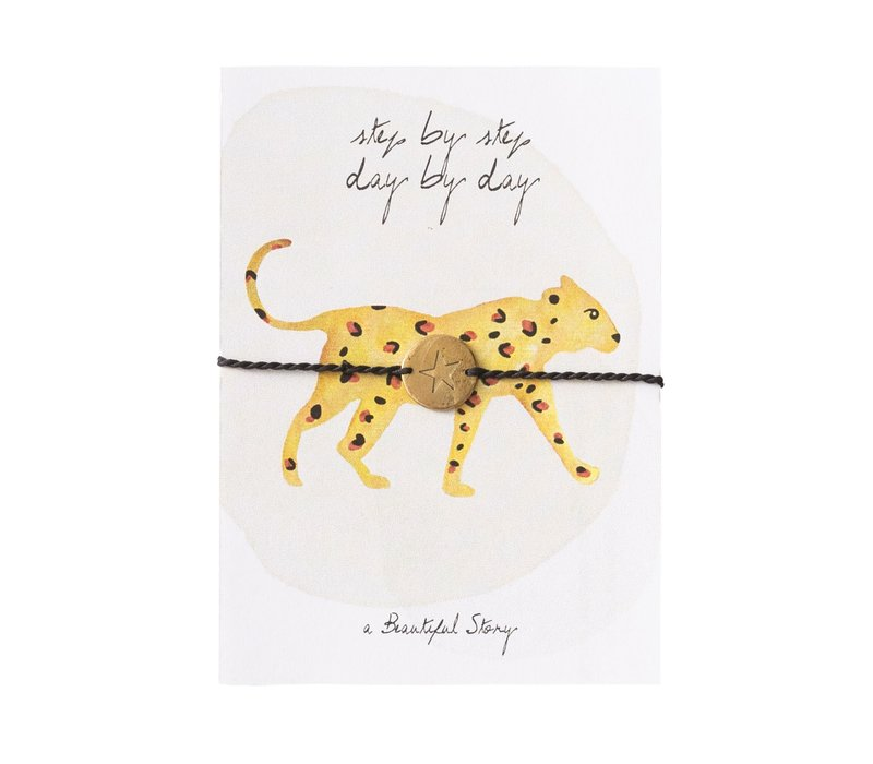 A Beautiful Story Sieraden Ansichtkaart - Leopard