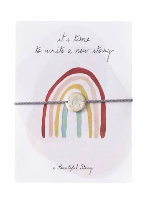 A Beautiful Story A Beautiful Story Jewelry Post Card - Rainbow