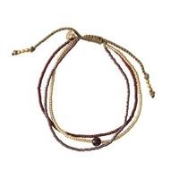 A Beautiful Story Bloom Gouden Armband - Granaat