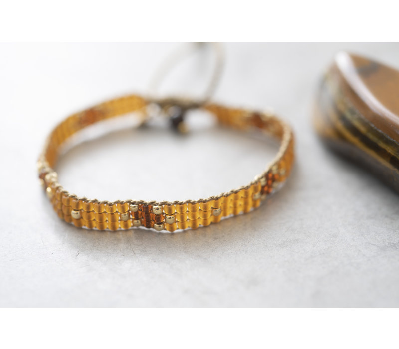 A Beautiful Story Summerlight Gouden Armband - Tijgeroog