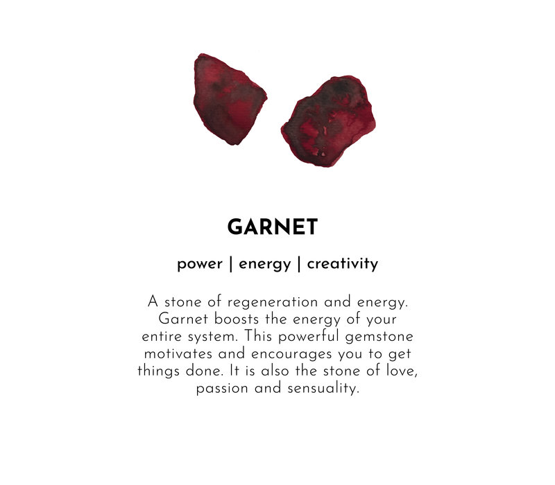 A Beautiful Story Bloom Gold Bracelet - Garnet