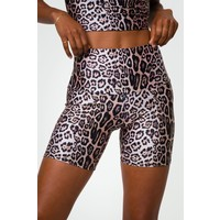Onzie High Rise Mini Biker Short - Leopard