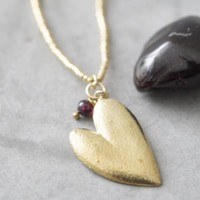 A Beautiful Story Paradise Gold Necklace - Garnet