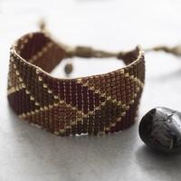 A Beautiful Story Willow Gold Bracelet - Garnet