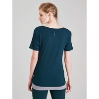 Asquith Bend It Tee - Forest/Grey Marl
