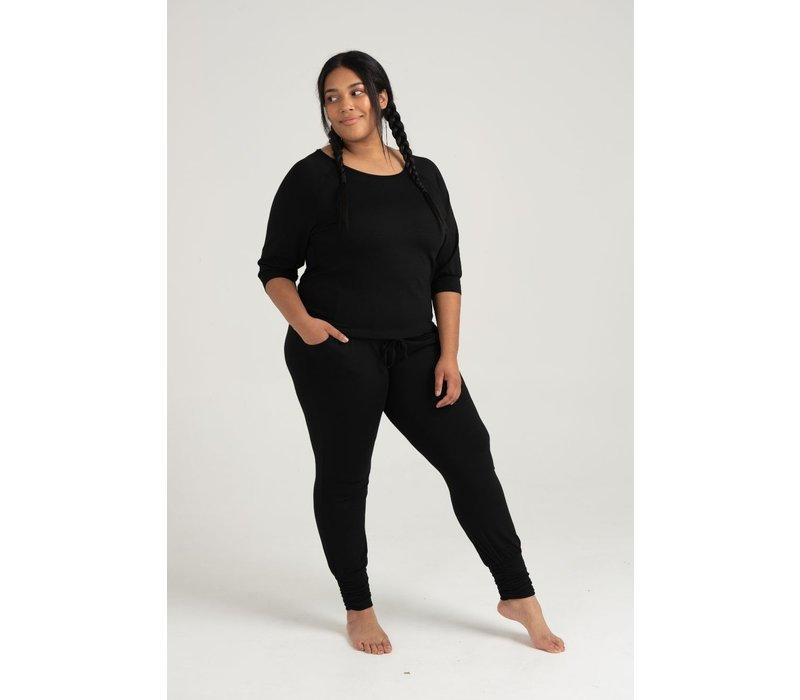 Asquith Long Harem Pants - Black