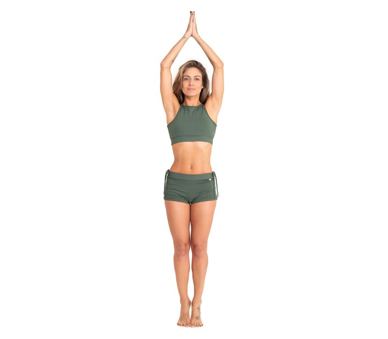 Shakti Activewear Side String Shorts - Jungle Green