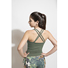 Shakti Activewear Shakti Activewear Double Cross Tank Top - Jungle Green