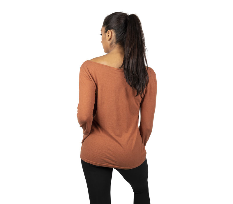 Sweetskins Long Sleeve Scoop T-Shirt - Carnelian