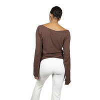 Sweetskins Long Sleeve Scoop T-Shirt - Wood