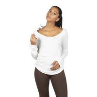 Sweetskins Long Sleeve Scoop Tee - Natural