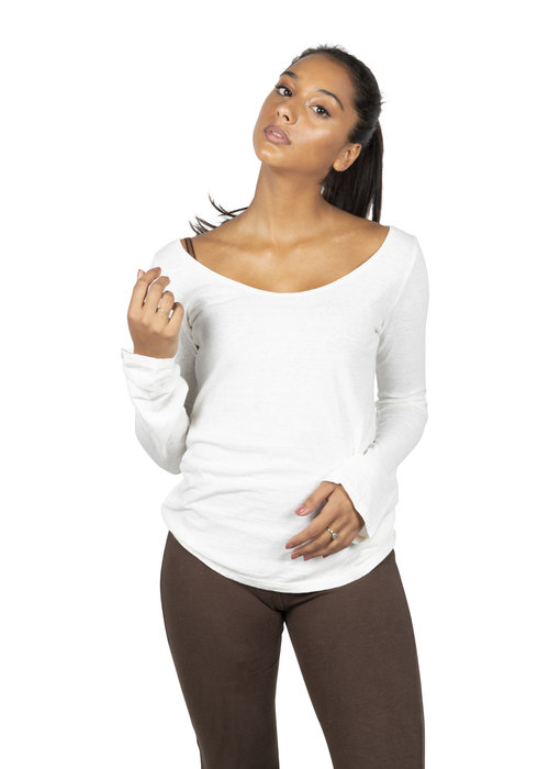 Sweetskins Sweetskins Long Sleeve Scoop T-Shirt - Natural