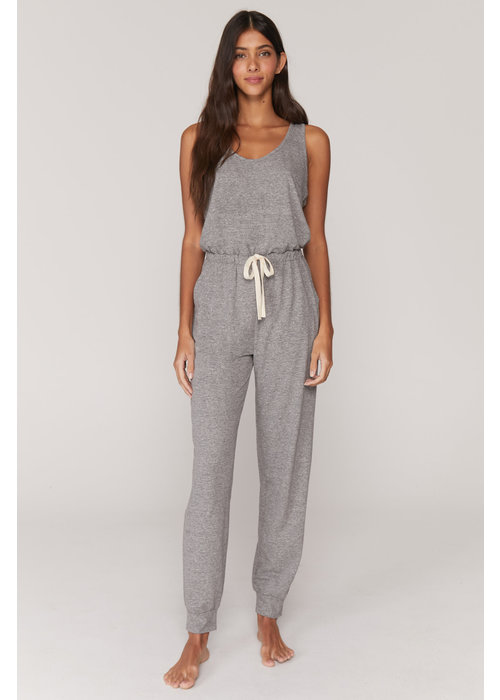 Spiritual Gangster Spiritual Gangster Perfect Lounge Jumpsuit - Heather Grey