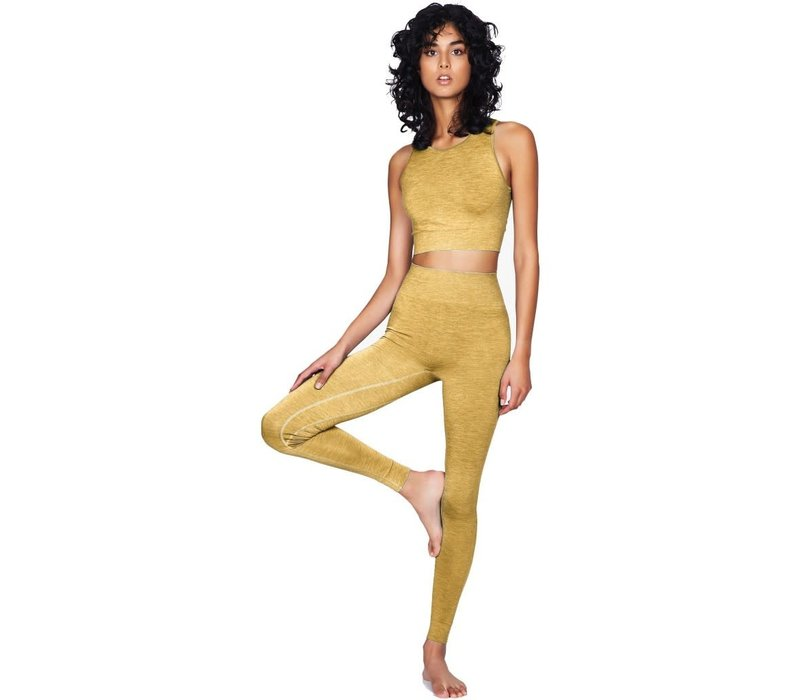 Moonchild Yoga Wear Seamless Crop Top - Dandelion