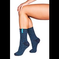 Soxs Women's Socks - Dark Blue/St. Tropez Blue Half High