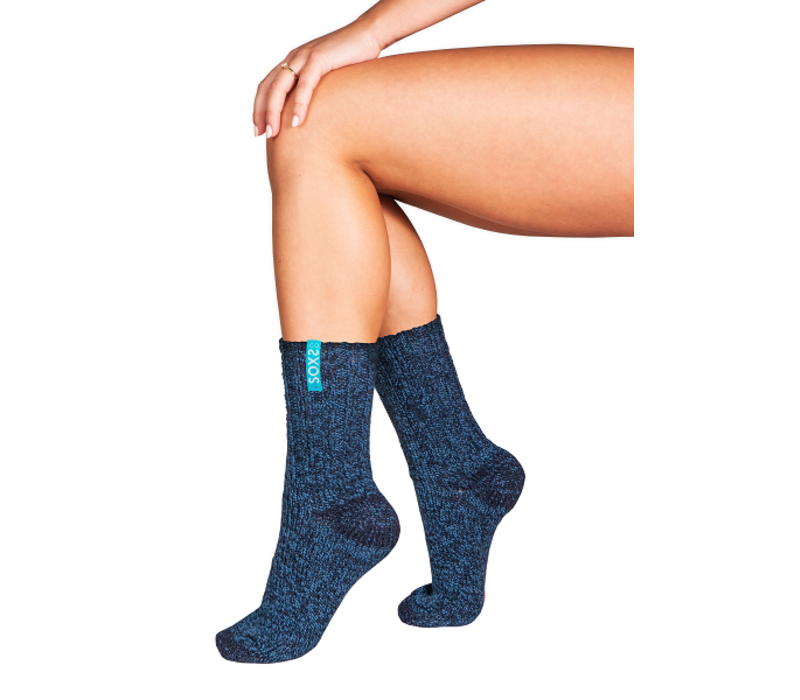 Soxs Dames Sokken - Dark Blue/St. Tropez Blue Half High