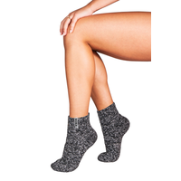Soxs Damen Anti-Rutsch-Socken - Dark Grey/Silver Star Low