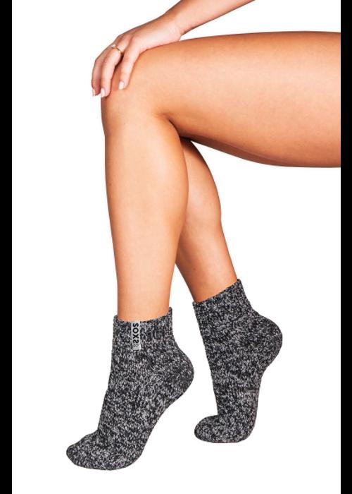Soxs Soxs Damen Anti-Rutsch-Socken - Dark Grey/Silver Star Low