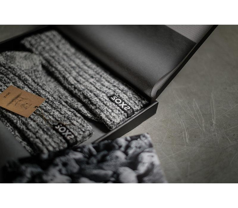 Soxs Women's Anti Slip Socks - Dark Grey/Silver Star Low