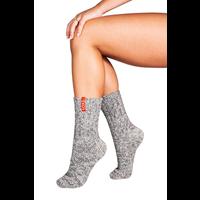 Soxs Damen Anti-Rutsch-Socken - Grey/Orange Sunset Half High