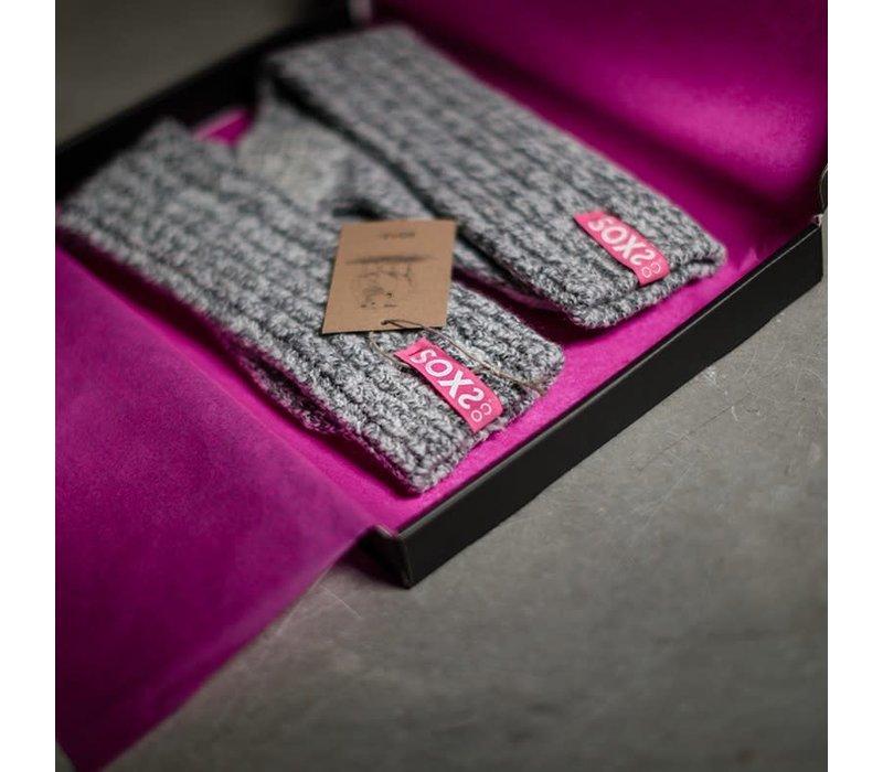Soxs Damen Socken - Dark Grey/Spicy Pink Knee High
