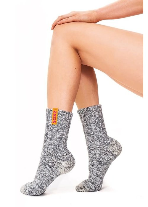 Soxs Soxs Damen Socken - Grey/Hot Candy Half High