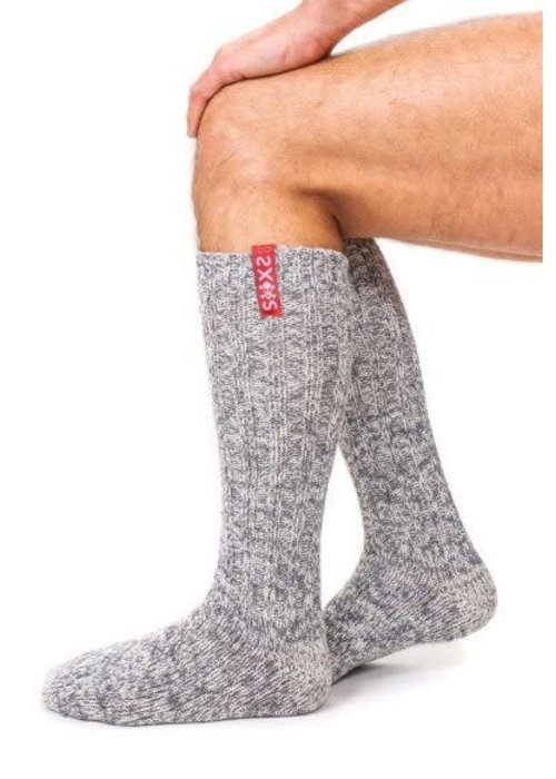 Soxs Soxs Men's Socks - Grey/Skull Knee High