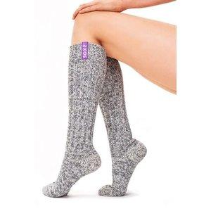 Soxs Soxs Damen Anti-Rutsch-Socken - Grey/Mystical Purple Knee High