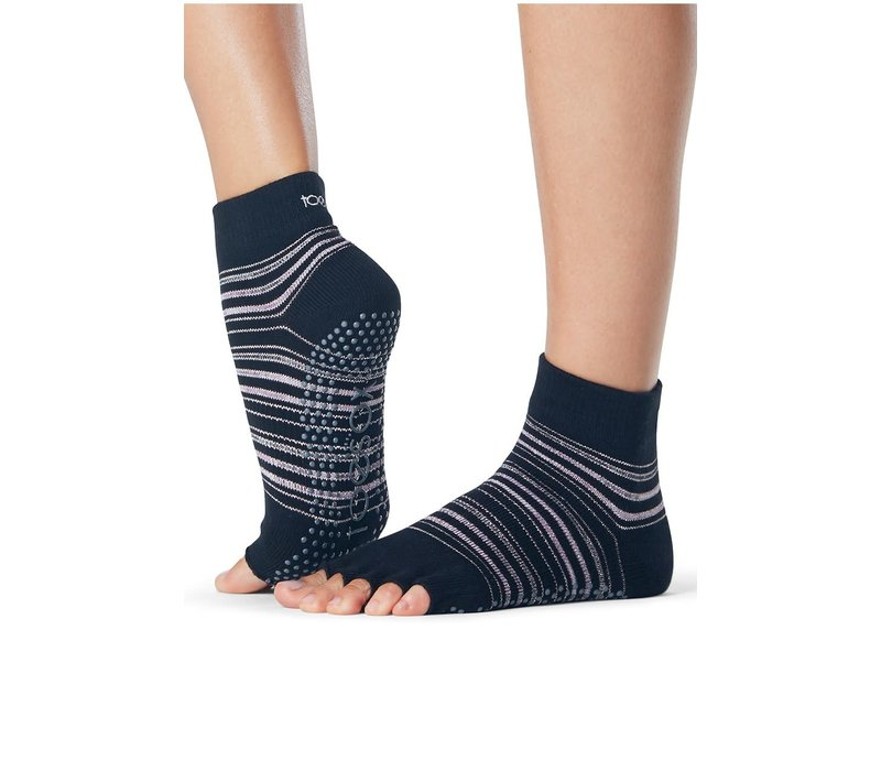 Toesox Yoga Halbzehsocken Knöchellang - Earthly
