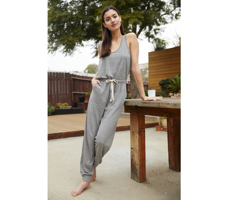 Spiritual Gangster Perfect Lounge Jumpsuit - Heather Grey
