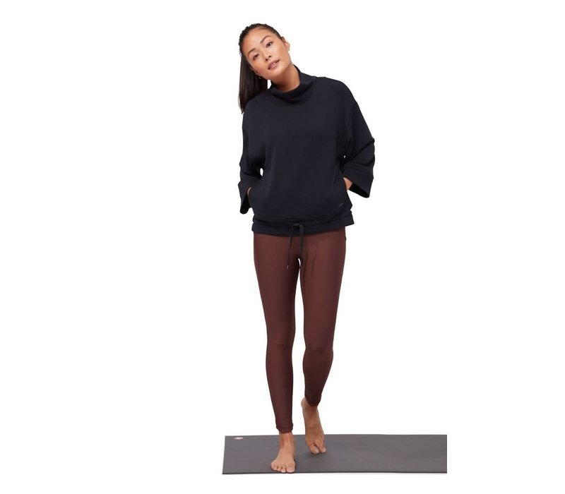 Manduka Upward Mockneck Pullover - Black