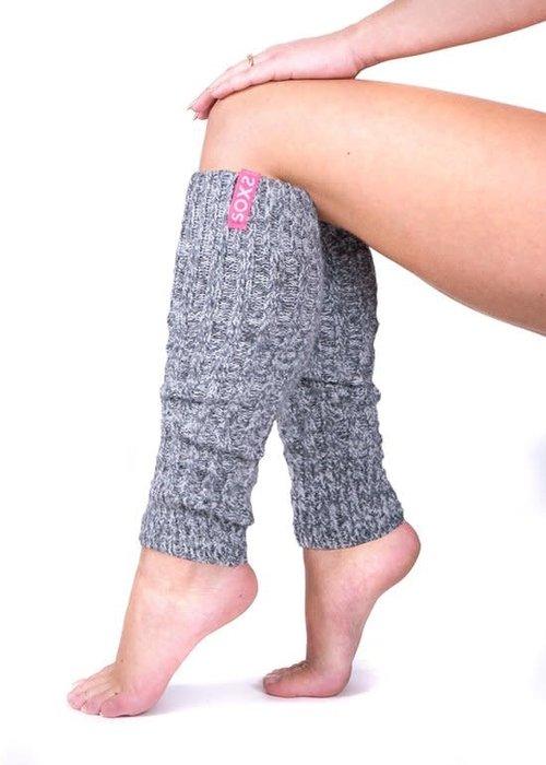 Soxs Soxs Leg Warmer - Bubble Gum/Grey
