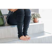 Toesox Leg Warmer Knee High - Charcoal